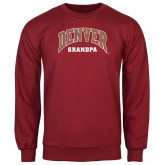 Cardinal Fleece Crew-Denver Grandpa