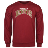 Cardinal Fleece Crew-Arched U of Denver 2 Color Version