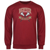Cardinal Fleece Crew-Lacrosse 50th Anniversary