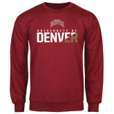 Cardinal Fleece Crew-Stacked University of Denver - Two Tone