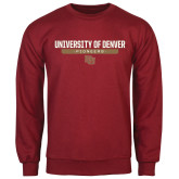 Cardinal Fleece Crew-University of Denver Pioneers Bar Stacked