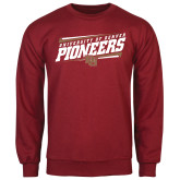 Cardinal Fleece Crew-University of Denver Pioneers Slanted w/ Logo