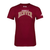 Adidas Cardinal Logo T Shirt-Arched University of Denver