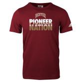 Adidas Cardinal Logo T Shirt-Pioneer Nation
