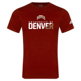 Adidas Cardinal Logo T Shirt-Stacked University of Denver - Two Tone