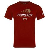 Adidas Cardinal Logo T Shirt-Pioneers Lacrosse Modern