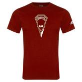 Adidas Cardinal Logo T Shirt-Denver LAX Geometric Stick