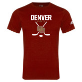 Adidas Cardinal Logo T Shirt-Denver Hockey Tall Crossed Sticks
