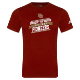 Adidas Cardinal Logo T Shirt-Pioneers Hockey Slanted Banner Text