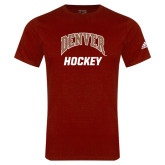 Adidas Cardinal Logo T Shirt-Arched Denver Hockey