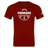 Adidas Cardinal Logo T Shirt-Pioneers Basketball Half Ball