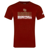 Adidas Cardinal Logo T Shirt-Basketball Repeating