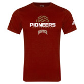 Adidas Cardinal Logo T Shirt-Pioneers Volleyball Geometric Half Ball