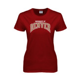 Ladies Cardinal T Shirt-Arched University of Denver