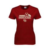 Ladies Cardinal T Shirt-Soccer Swoosh
