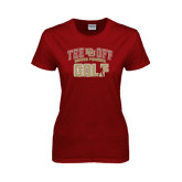 Ladies Cardinal T Shirt-Golf Tee Off