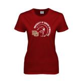 Ladies Cardinal T Shirt-Denver Gymnastics Circle Design