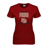 Ladies Cardinal T Shirt-Pioneer Pride