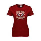 Ladies Cardinal T Shirt-Lacrosse 50th Anniversary