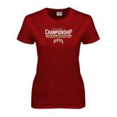Ladies Cardinal T Shirt-Mens Lacrosse Champions