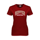 Ladies Cardinal T Shirt-Basketball
