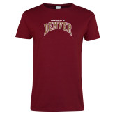 Ladies Cardinal T Shirt-University of Denver
