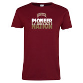 Ladies Cardinal T Shirt-Pioneer Nation