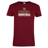 Ladies Cardinal T Shirt-DU Basketball