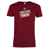 Ladies Cardinal T Shirt-University of Denver Pioneers Hockey