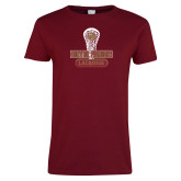 Ladies Cardinal T Shirt-DU Lacrosse