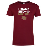 Ladies Cardinal T Shirt-Game Set Match