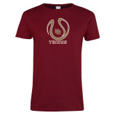Ladies Cardinal T Shirt-DU Tennis