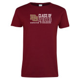 Ladies Cardinal T Shirt-Class of, Personalized Year