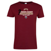 Ladies Cardinal T Shirt-NCHC 2018 Ice Hockey Champions