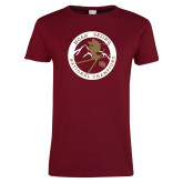 Ladies Cardinal T Shirt-2018 NCAA Skiing National Champions