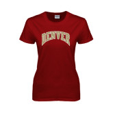 Ladies Cardinal T Shirt-Arched Denver 2 Color Version