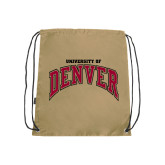 Nylon Vegas Gold Drawstring Backpack-Arched University of Denver