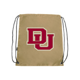 Nylon Vegas Gold Drawstring Backpack-DU