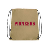 Nylon Vegas Gold Drawstring Backpack-Pioneers
