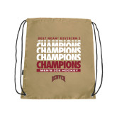 Nylon Vegas Gold Drawstring Backpack-2017 NCAA Division I Mens Hockey Champions
