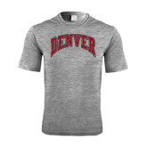Performance Grey Heather Contender Tee-Arched Denver