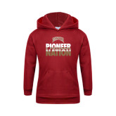 Youth Cardinal Fleece Hood-Pioneer Nation