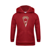 Youth Cardinal Fleece Hood-Denver LAX Geometric Stick