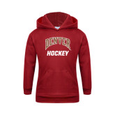 Youth Cardinal Fleece Hood-Arched Denver Hockey