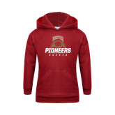 Youth Cardinal Fleece Hood-Pioneers Soccer Half Ball