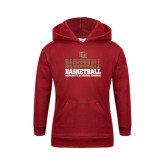 Youth Cardinal Fleece Hood-Basketball Repeating