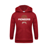 Youth Cardinal Fleece Hood-Pioneers Volleyball Geometric Half Ball