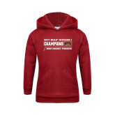 Youth Cardinal Fleece Hood-2017 NCAA Division I Mens Hockey Champions