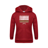 Youth Cardinal Fleece Hoodie-2017 NCAA Division I Mens Hockey Champions