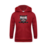 Youth Cardinal Fleece Hoodie-DU Mens Lacrosse Champions